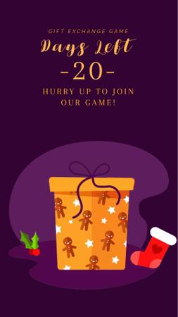 Plantilla de diseño de Christmas Greeting with Gift Box Instagram Video Story