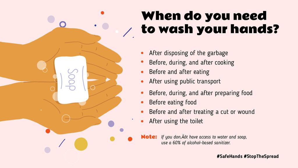 #SafeHands Coronavirus awareness with Hand Washing rules — Створити дизайн