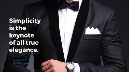 Elegance Quote Businessman Wearing Suit Title – шаблон для дизайну