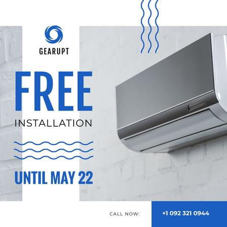 Air conditioning Installation Offer Instagram – шаблон для дизайну
