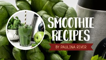 Smoothie Recipe Green Fruits and Vegetables | Youtube Thumbnail Template
