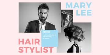 Hairstylist Offer with Handsome Man and Stylish Woman