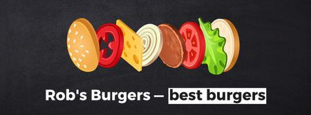 Putting together cheeseburger layers Facebook Video cover Modelo de Design