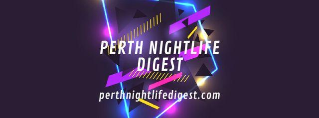 Template di design Flickering neon lights with glitch Facebook Video cover