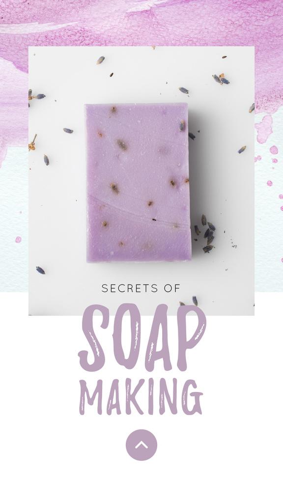 Handmade Soap Bar with Lavender — Crear un diseño