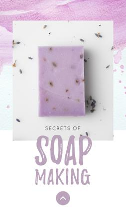 Modèle de visuel Handmade Soap Bar with Lavender - Instagram Story