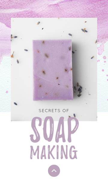 Template di design Handmade Soap Bar with Lavender Instagram Story