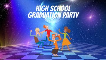 Party Invitation People Dancing at Night | Full Hd Video Template