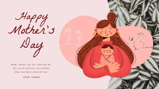 Mother's Day Happy Mom with Baby Full HD videoデザインテンプレート