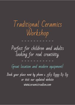 Traditional Ceramics Workshop promotion