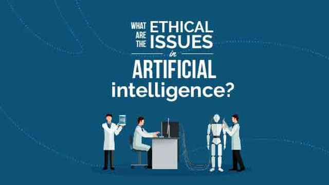 Ethical issues in Artificial Intelligence concept Title – шаблон для дизайна