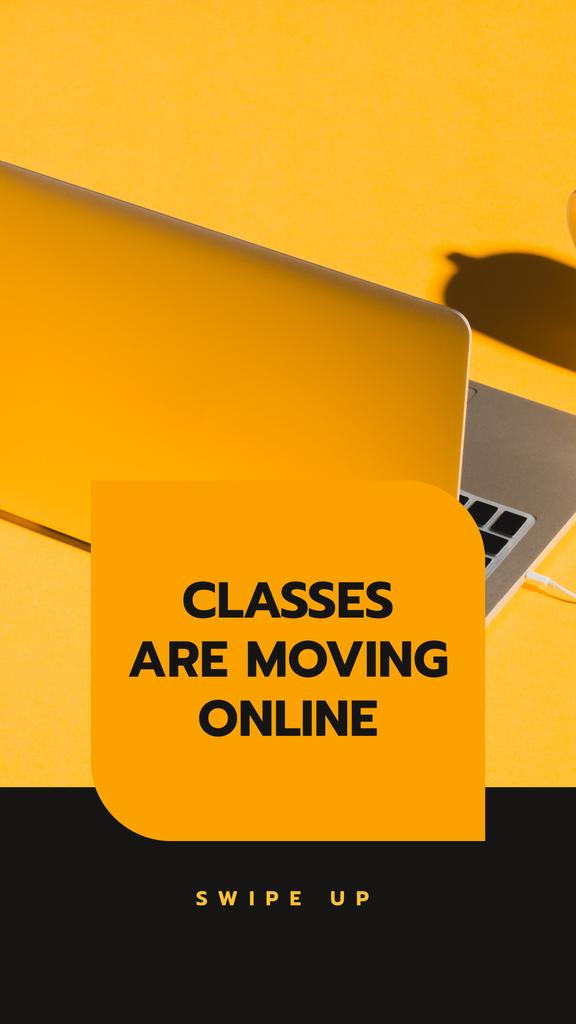 Online Education Platform with Laptop —デザインを作成する