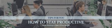 Productivity Tips with Colleagues Working in Office