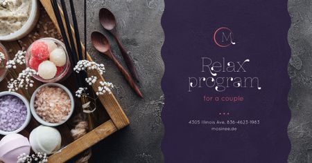 Plantilla de diseño de Relax Program for Couple Offer Facebook AD