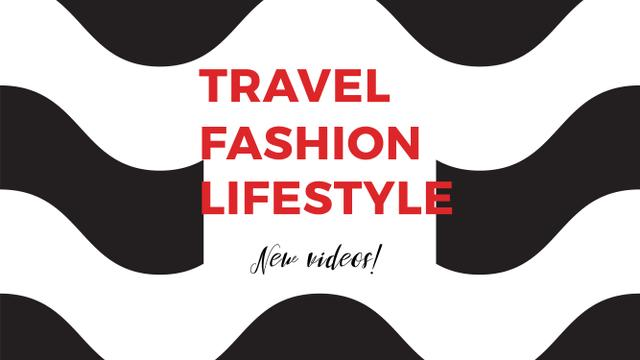 Template di design Fashion Quote on Waves in Black and White Youtube