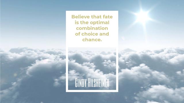 Plantilla de diseño de Inspiration Quote Flying over Clouds in Sky Full HD video