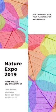 Nature Expo announcement with colorful leaves
