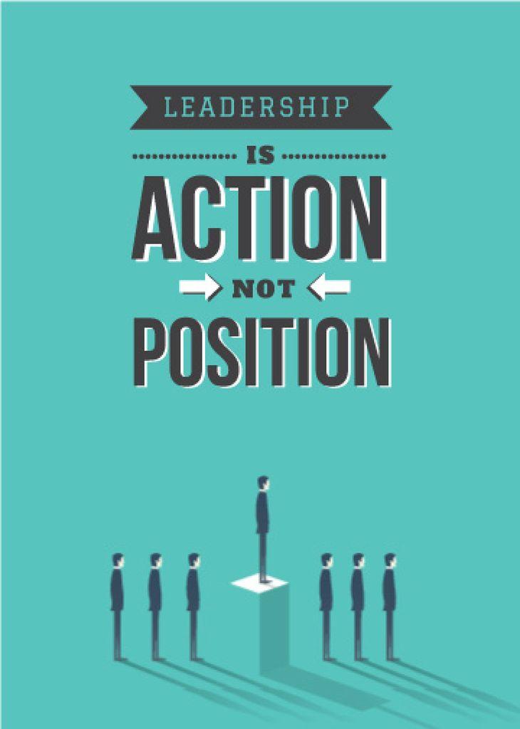 Business Leadership Businessmen in Queue | Flyer Template — Maak een ontwerp