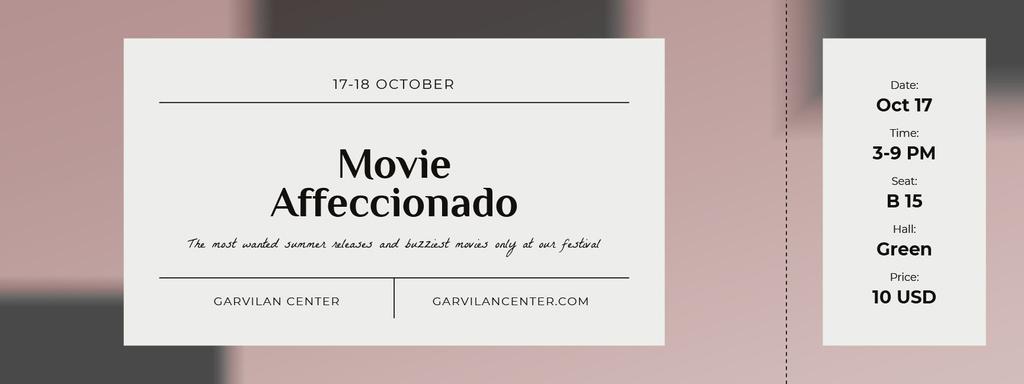 Movie Festival Announcement — Crea un design