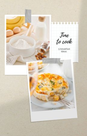 Designvorlage Tasty Pie recipe ideas für IGTV Cover