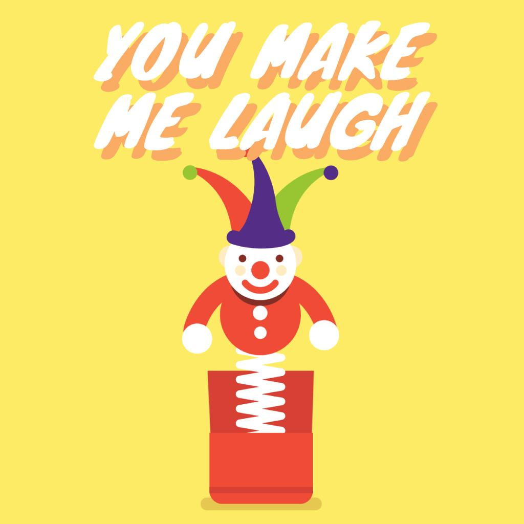 Happiness Quote with Jumping Jack Toy in Yellow — ein Design erstellen