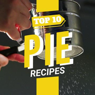 Sifting sugar powder on pie