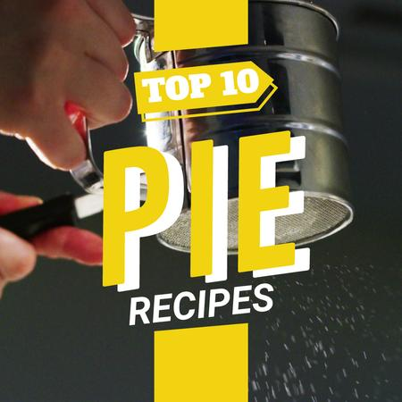 Sifting sugar powder on pie Animated Post Modelo de Design