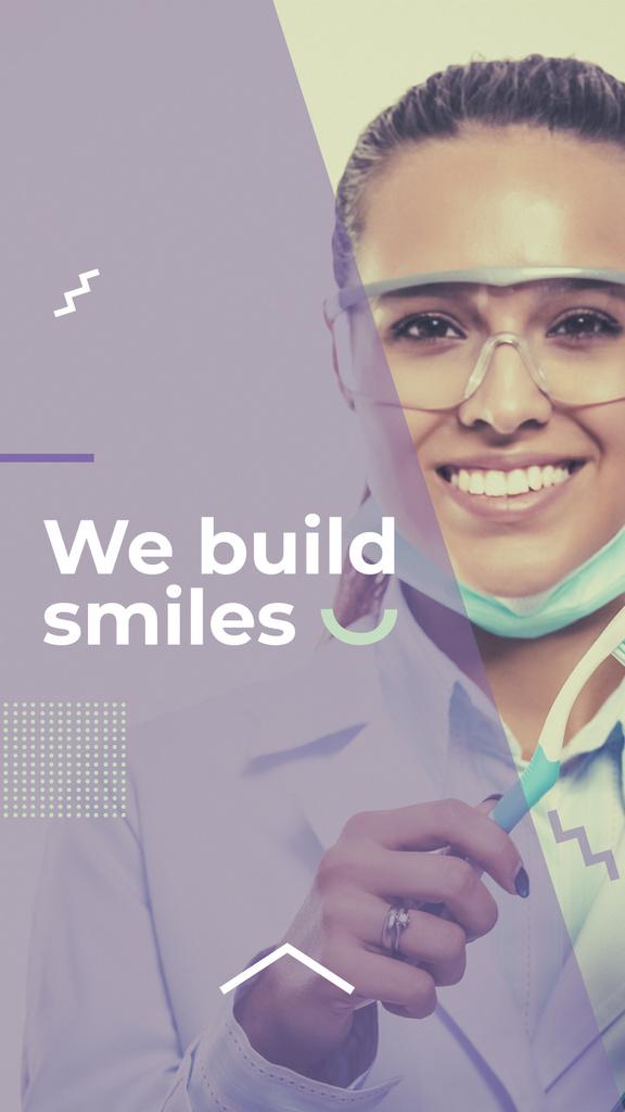 Dental Clinic Doctor smiling — Создать дизайн