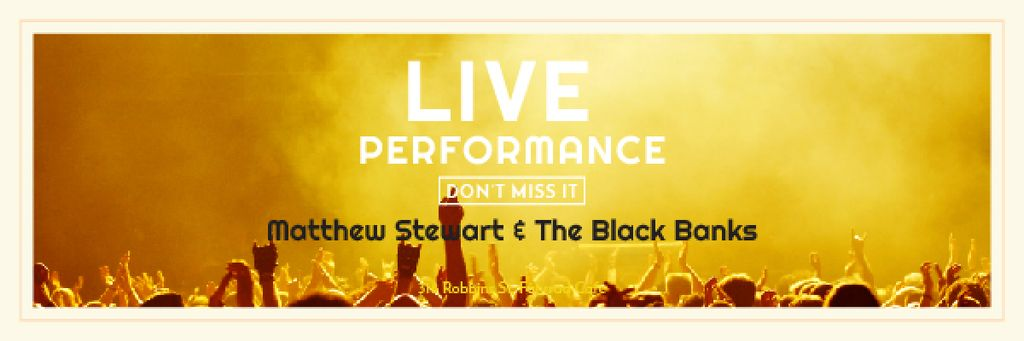 Live performance Announcement with Crowd on Concert —デザインを作成する