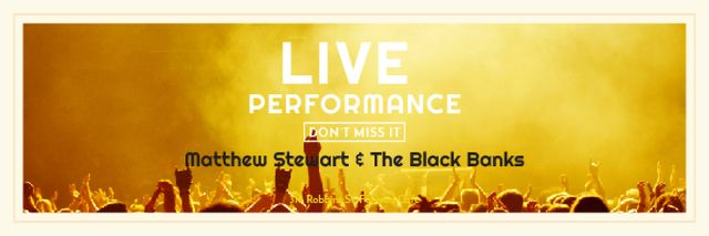 Live performance Announcement with Crowd on Concert Email header Modelo de Design
