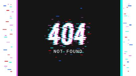 Template di design 404 error message Full HD video