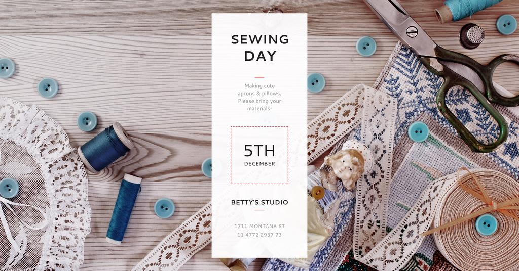 Sewing day event Annoucement — ein Design erstellen