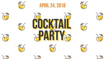 Summer Cocktails Party Icons in Yellow | Full Hd Video Template