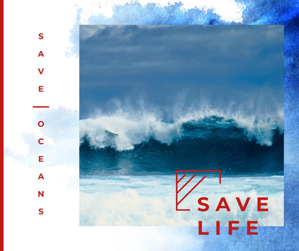 Blue Ocean water wave — Crea un design