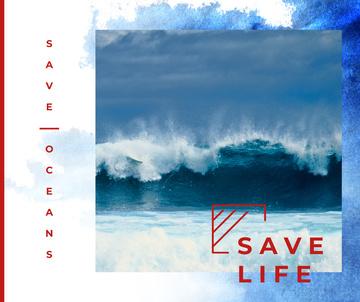 Blue Ocean water wave