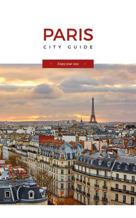 Paris famous travelling spots Book Cover Modelo de Design