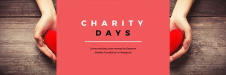 Charity Days poster Twitter Modelo de Design