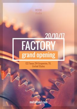 Factory Grand Opening Mechanical Cogwheels