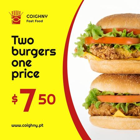 Tasty Burgers Offer Instagram – шаблон для дизайна