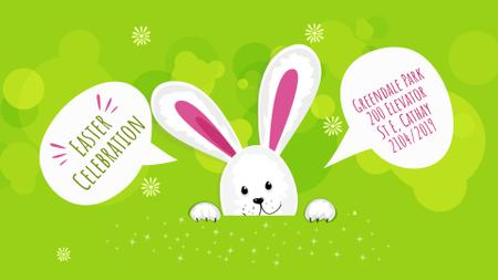Modèle de visuel Easter Invitation Cute Bunny on Green - Full HD video