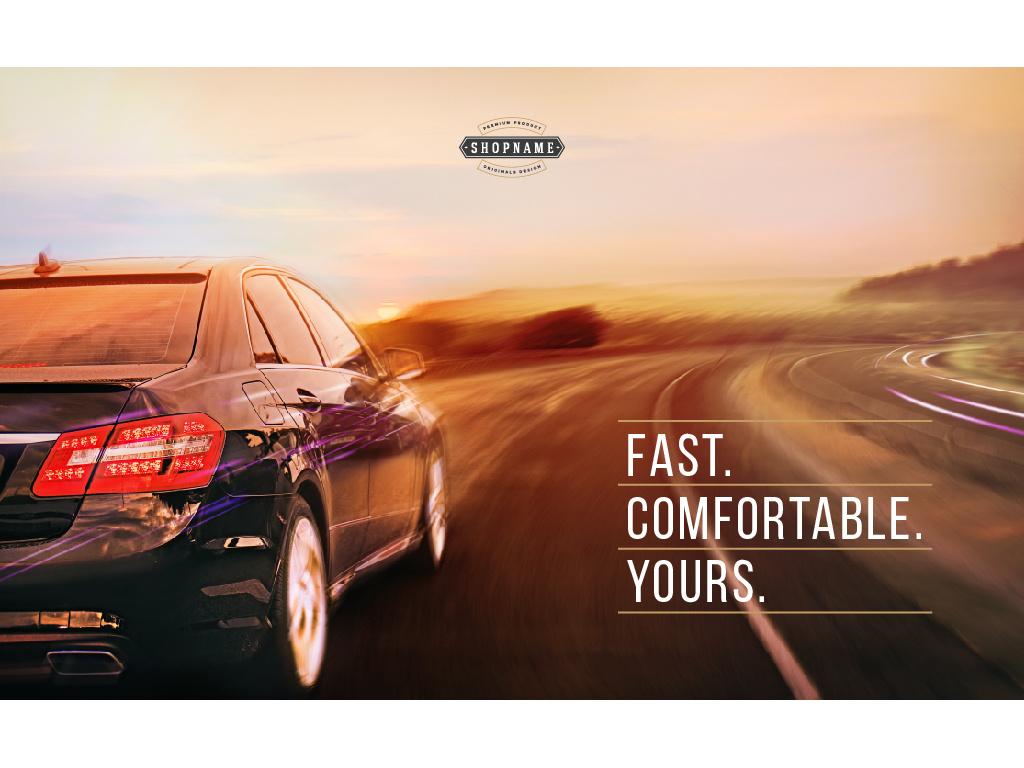 Advertisement for Car store — Crear un diseño
