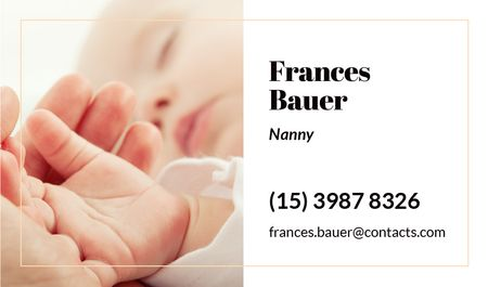 Parent holding baby's hand Business card Modelo de Design