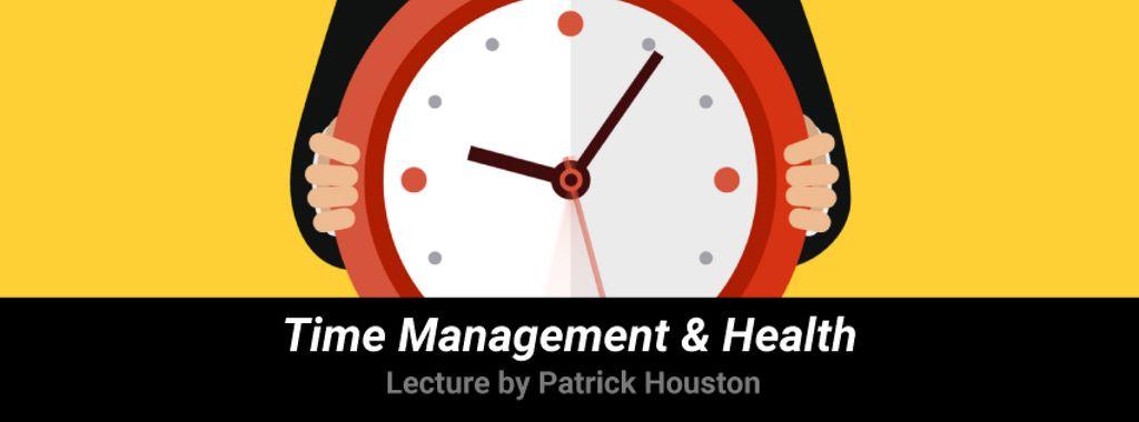 Man holding clock — ein Design erstellen
