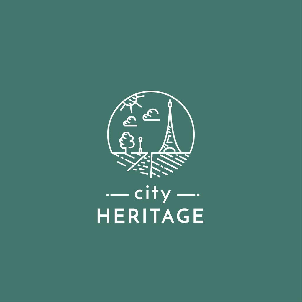 Paris Famous Travelling Spot Logo Design Template