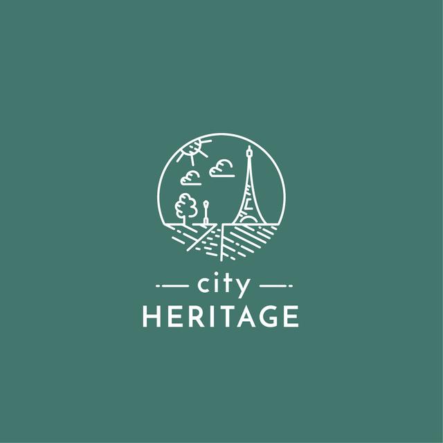 Paris Famous Travelling Spot Logo Modelo de Design