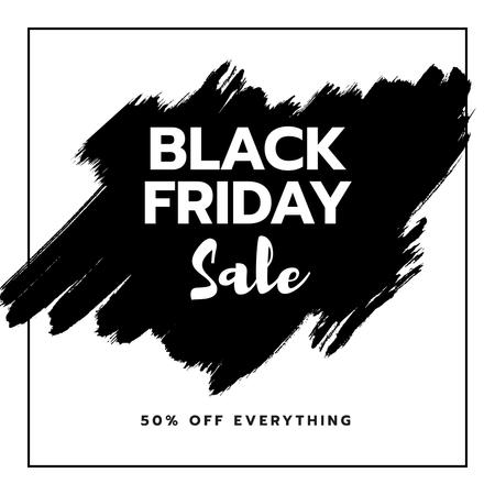 Template di design Black Friday sale on smudges Instagram