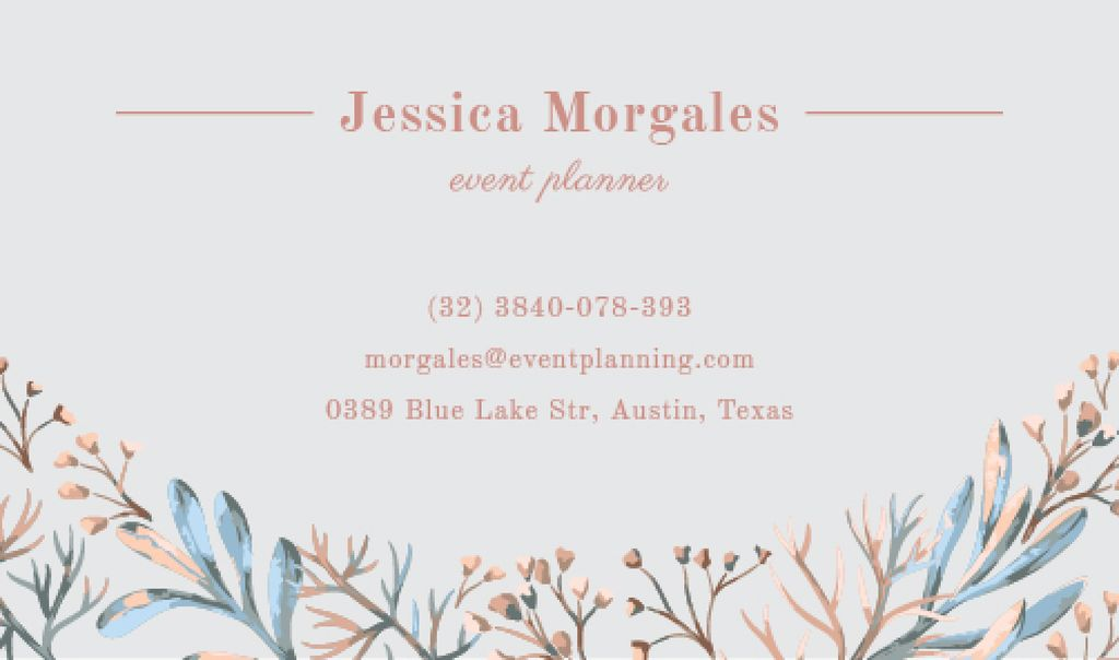 Event planner business card template — Modelo de projeto