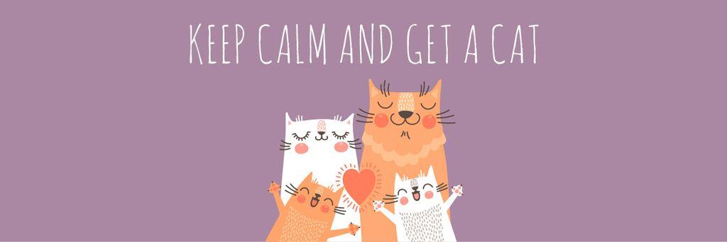 Citation with Cute Cat Family — Créer un visuel