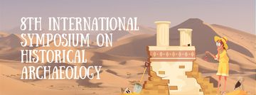 Archaeologist Wiping Dust on Ruins | Facebook Video Cover Template