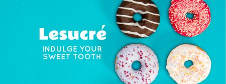 Template di design Delicious glazed Donuts Facebook cover